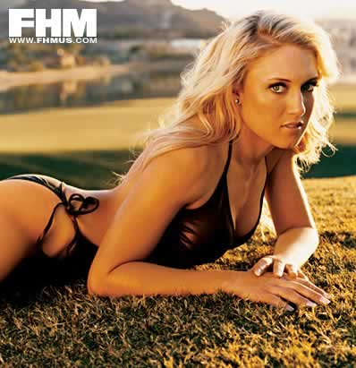 Natalie Gulbis sexy bikini non nude picture from FHM photoshoot